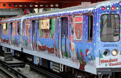 CTA Holiday Train Came By for a Visit